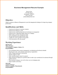 8 Business Resume Objective Worker For Internship Management
