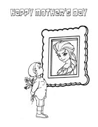 Small Picture Elsa And Mothers Day Boy Coloring Page H M Coloring Pages