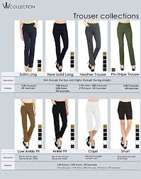 Viv Collection Size Chart Viv Collection New Womens Straight Fit Trouser Pull On