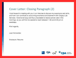 Cover Letter Closing Good Resume Format