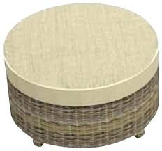 outdoor ottoman cushion all weather wicker cool cypress round spectrum mushroom cubes pouf outdoor ottoman cushion