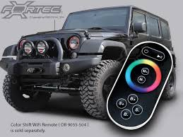 oracle complete head light kit with halo led light ring for 07 up jeep