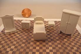 Miniature Dollhouse Bedroom Furniture Dollhouse Furniture 1 4 Scale 1 48 White Plaster Bedroom Furniture