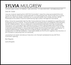 sap fico consultant cover letter sample best cover letter opening
