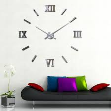 large office wall clocks. Large Wall Clocks Extra Decorative Silver Clock Above Black Sofa Office R