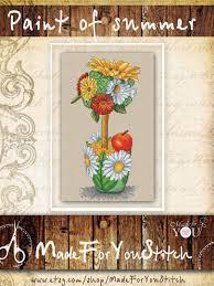 Floral Cross Stitch Patterns Interesting Decorating Ideas