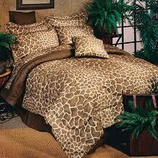 sightly leopard print duvet cover set