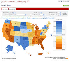 Us Map Chart Introducing The Qcew State And County Map Application
