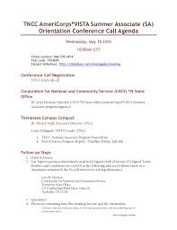 Conference Agenda Interesting May 48 48 Sa Orientation Conference Call Agenda