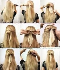 easy and cute hairstyle idea for long hair