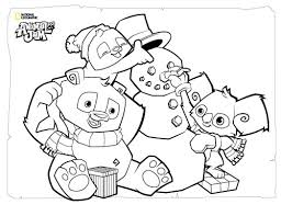 Animal Jam Coloring Page Animals With Snowman Get Coloring Pages