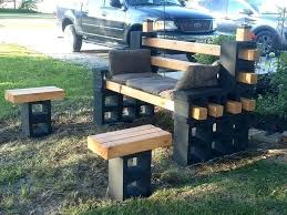 cinder block furniture. Cinder Block Patio Furniture Concrete Ideas Bench A