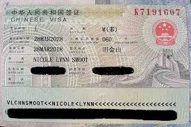 a chinese tourist visa for us citizens