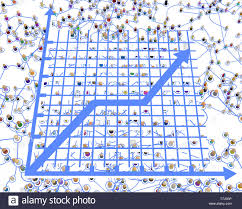 3d Figures Chart Crowd Of Small Symbolic 3d Figures Linked By Lines Complex