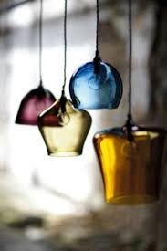 colourful glass pendant lights these hand blown