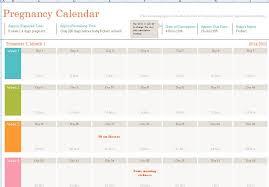 Pregnancy Callendar Pregnancy Calendar Template Formal Word Templates