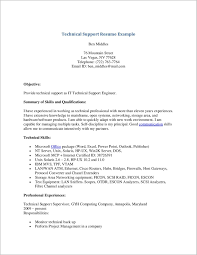 It Support Engineer Sample Resume Resume Sample For Technical Support Engineer Danayaus 21