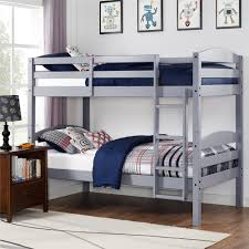 dorel living better homes gardens leighton twin over twin wood bunk bed gray