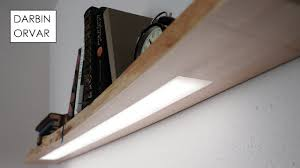 How To Make Floating Shelves With Lights Floating Shelf W Hidden Led Lighting Led Shelf Lighting