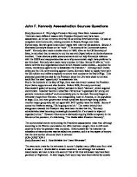 why is j f kennedy such a famous and controversial figure today  john f kennedy assassination sources questions