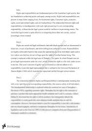 rights and responsibilities essay year hsc legal studies  rights and responsibilities essay
