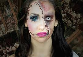 ruthless bruised face makeup idea for halloween