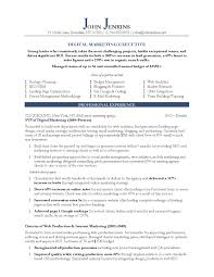 Resume Template For Marketing Resume Work Template