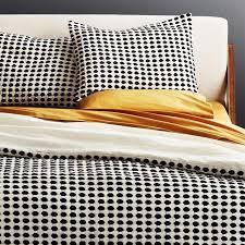 estela black white dots textured bedding