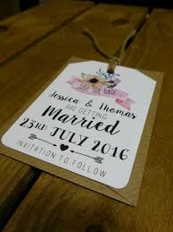 fl pink flower diy save the date cards tags wedding shabby vintage chic