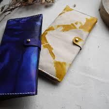 leather tie dye bi fold purse