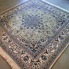 wonderful square nain persian rug 200 x 200 unique size with certificate