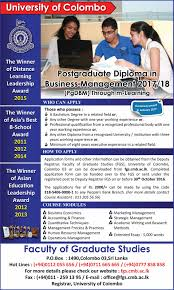 postgraduate diploma in business management through m learning  categories