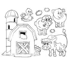 Printable Farm Coloring Pages Coloring For Babies Amvame
