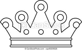Ikona, królewski, styl, korona, szkic. Sieć, szkic, królewska korona,  ilustracja, wektor, icon., ikona. | CanStock