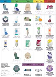Asthma Medication Chart 2019 Inhalers Are Devices That Administer The Mediation Directly