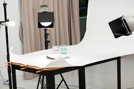 how to setup commercial lighting for food photography