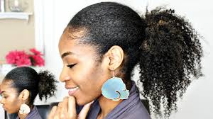 Natural Hairstyles Ponytails Ponytail With Clip In Extensions On Natural Hair Youtube