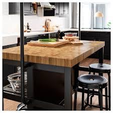 Image Kitchen Cabinets Ikea Kitchen Island Vadholma Black Oak