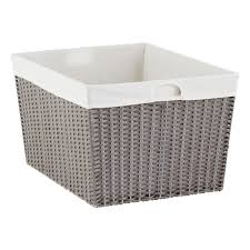 Pretty Laundry Baskets Awesome Grey Montauk Rectangular Basket The Container Store