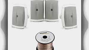 yamaha outdoor speakers. yamaha ns-aw150wh 2-way outdoor speakers - white (4 seapkers amazonbasics speaker wire) (