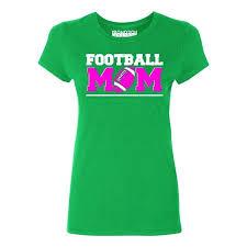 P B Football Mom Womens T Shirt Green 3xl