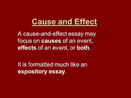 cause and effect a cause and effect essay focus on causes of 1 cause