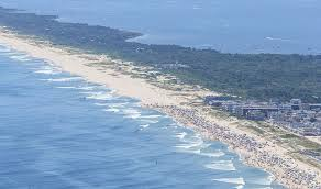 Image result for chris christie on beach photo of beach closure aerial