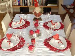 Deco Noel Table Rouge Et Blanc | Exactjuristen