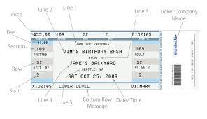 broadway ticket template fake concert ticket generator