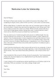 A motivational letter, also known as a personal statement or a cover letter, is a short with this in mind, writing a motivational letter for a masters degree is excellent practice. Free Sample Motivation Letter For Scholarship Template