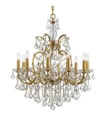 crystorama 4458 ga cl mwp ore 10 light 28 inch antique gold chandelier ceiling light in antique gold ga clear hand cut