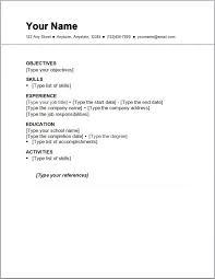 ... Simple Resume Samples 9 Basic Resume Outline Sample  Httpwww.resumecareer.infobasic ...