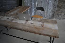 custom wood office furniture. Modern Industry L Shape Reclaimed Wood Desk Custom Office Furniture