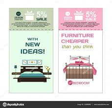 Banner furniture sale advertisement flayers Stock Vector